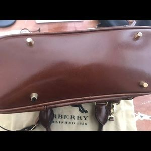 Burberry Bags - Burberry Brown Leather Handbag- New Without Tags